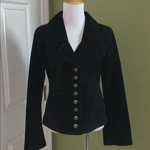 B B Dakota Suede Jacket Size Medium Black